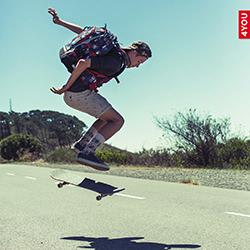 Skater mit Jump