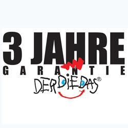 3 Jahre Garantie DerDieDas