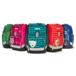 Der Schulrucksack Cubo von Ergobag in unterschiedlichen Designs.