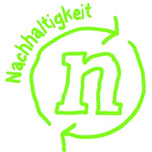 Das grüne Ergobag WOW-Icon für Nachhaltigkeit.