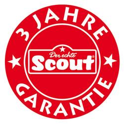 Siegel für die 3 Jahre Garantie von Scout