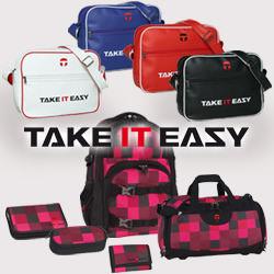 Take it Easy Umhängetasche Easy Bag und Schulrucksack Oslo-Flex mit Zubehör.