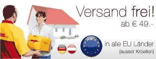 Versand frei ab 49€ innerhalb aller EU Länder (ausser Kroatien)
